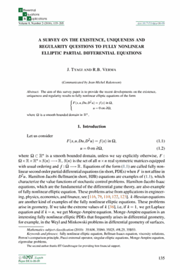 Ele-Math – Differential Equations & Applications: A survey on the ...